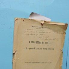 Livros antigos: I TELEMETRI DA COSTA E GLI APPARECCHI ACCESORI SISTEMA BRACCIALINI. SCIPIONE BRACCIALINI. ROMA 1921. Lote 177762364