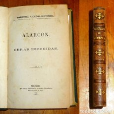 Libros antiguos: RUIZ DE ALARCÓN, JUAN. OBRAS ESCOGIDAS : LA VERDAD SOSPECHOSA ; LAS PAREDES OYEN ; LOS PECHOS PRIVIL. Lote 177773055