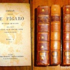 Libros antiguos: OBRAS COMPLETAS DE FIGARO / DON MARIANO JOSÉ DE LARRA. - NUEVA ED. PRECEDIDA DE LA VIDA DEL AUTOR.... Lote 177774169