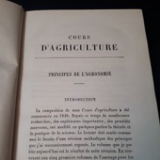 Libros antiguos: COURS D'AGRICULTURE. POR DE GASPARIN AÑO 1856. Lote 177843464