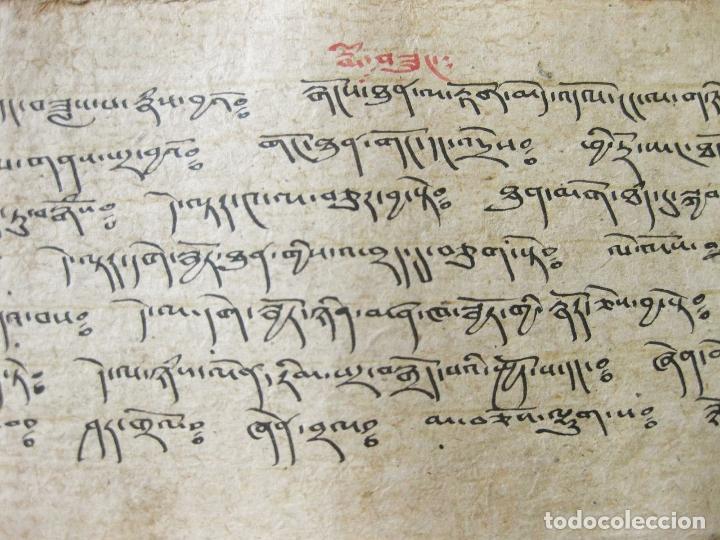 Libros antiguos: ANTIGUO MANUSCRITO BUDISTA TIBETANO ESCRITO EN INDÚ - Foto 2 - 178030287