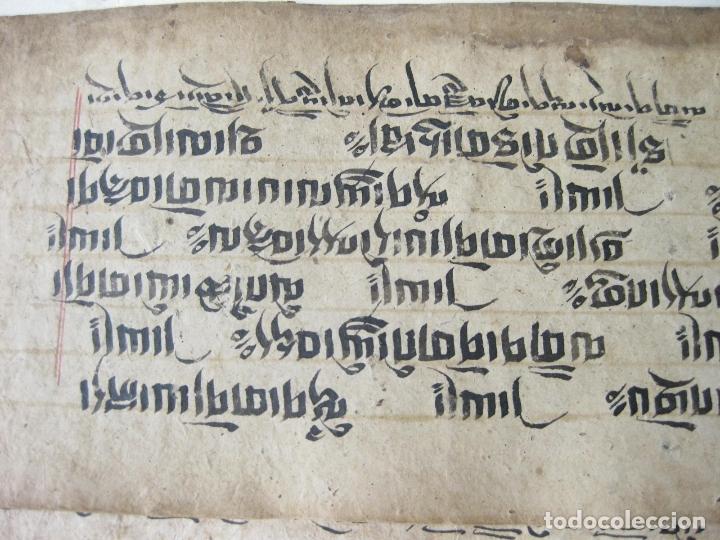Libros antiguos: ANTIGUO MANUSCRITO BUDISTA TIBETANO ESCRITO EN INDÚ - Foto 3 - 178030287