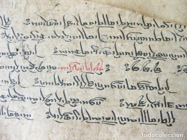 Libros antiguos: ANTIGUO MANUSCRITO BUDISTA TIBETANO ESCRITO EN INDÚ - Foto 4 - 178030287