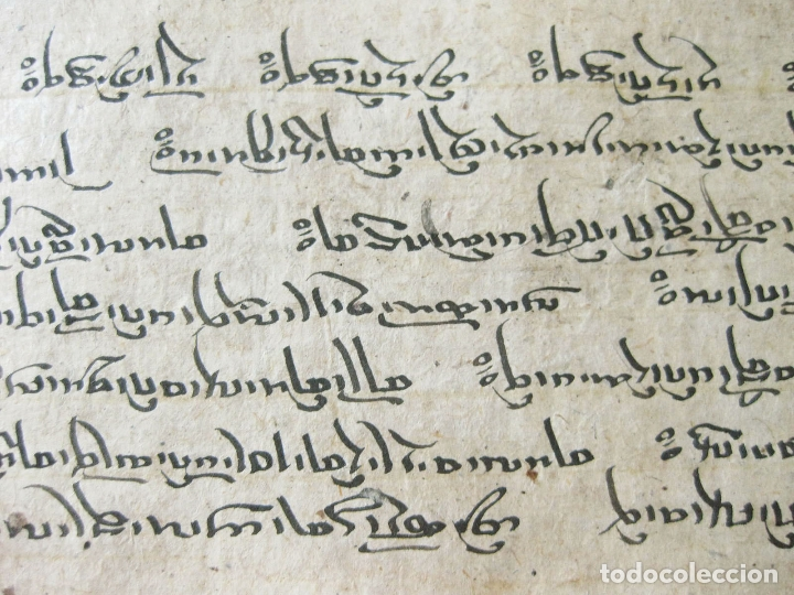 Libros antiguos: ANTIGUO MANUSCRITO BUDISTA TIBETANO ESCRITO EN INDÚ - Foto 5 - 178030287