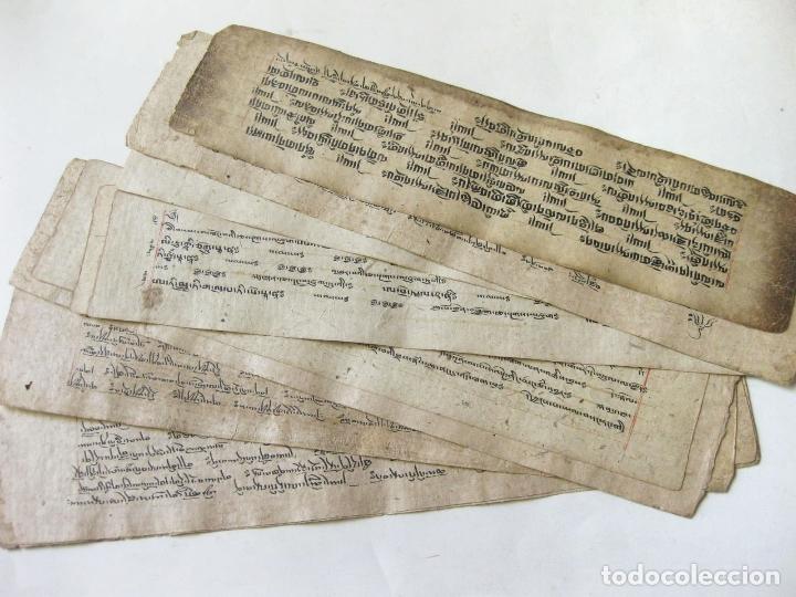 ANTIGUO MANUSCRITO BUDISTA TIBETANO ESCRITO EN INDÚ (Libros Antiguos, Raros y Curiosos - Bellas artes, ocio y coleccionismo - Otros)