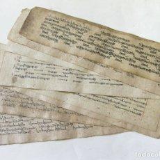 Libros antiguos: ANTIGUO MANUSCRITO BUDISTA TIBETANO ESCRITO EN INDÚ. Lote 178030287