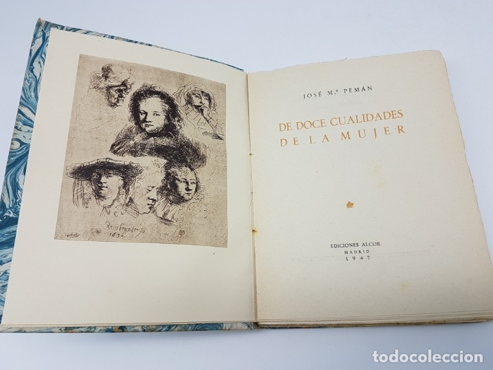 Libros antiguos: DE DOCE CUALIDADES DE LA MUJER ( PEMÁN ) 1947 - Foto 2 - 178048394