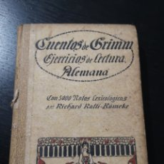 Libros antiguos: CUENTOS DE GRIMM EJERCICIOS DE LECTURA ALEMANA. Lote 178056979