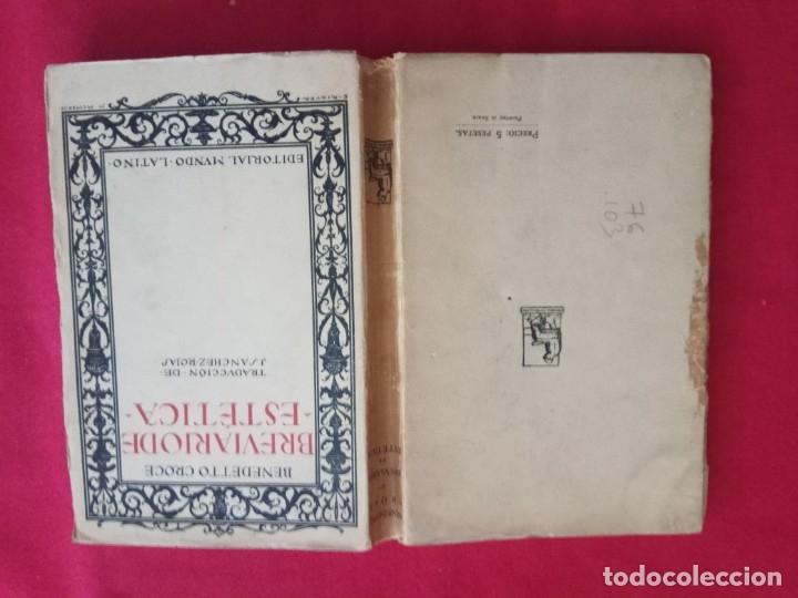 Libros antiguos: BREVIARIO DE ESTETICA-BENEDETTO CROCE. - Foto 2 - 178150918