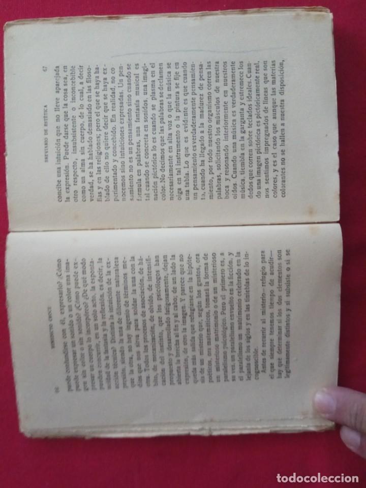 Libros antiguos: BREVIARIO DE ESTETICA-BENEDETTO CROCE. - Foto 3 - 178150918