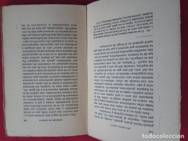Libros antiguos: BREVIARIO DE ESTETICA-BENEDETTO CROCE. - Foto 4 - 178150918