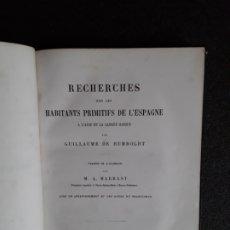 Libros antiguos: HUMBOLDT GUILLAUME DE. LA ESPAÑA PRIMITIVA A LA LUZ DE LA LENGUA VASCA. EUSKERA.. Lote 178178382