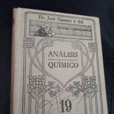 Libros antiguos: ANALISIS QUIMICO. MANUALES GALLACH. Lote 178216133