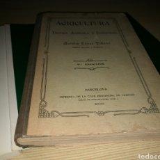 Libros antiguos: ANTIGUO LIBRO. AGRICULTURA. TÉCNICA AGRÍCOLA E INDUSTRIAL. BARCELONA. 1908. IMPRENTA CASA CARIDAD. Lote 178234702
