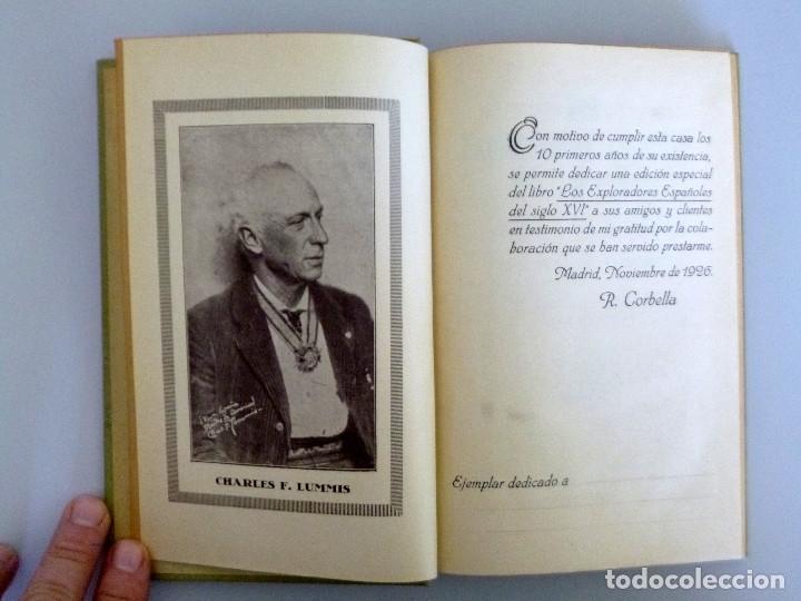 Libros antiguos: CHARLES F. LUMMIS // LOS EXPLORADORES ESPAÑOLES DEL SIGLO XVI // ED. ARALUCE // 1926 - Foto 2 - 178336457