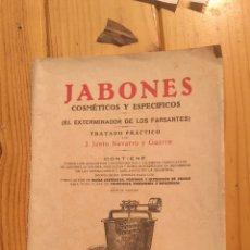 Libros antiguos: JABONES COSMÉTICOS Y ESPECÍFICOS. Lote 178343691
