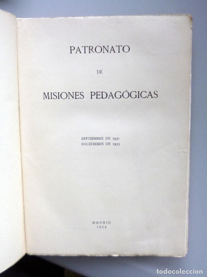 Libros antiguos: PATRONATO DE MISIONES PEDAGÓGICAS // 1931-1933 // AGUIRRE IMPRESOR 1934 - Foto 2 - 178362906
