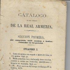Libros antiguos: MILITAR - 2659 OBJETOS - CATALOGO DE LA REAL ARMERIA - INCLUIDOS LOS CUADROS COLGADOS EN LAS PAREDES. Lote 178379063