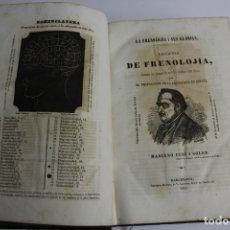 Libros antiguos: L-294. LECCIONES DE FRENOLOGIA ILUSTRADAS, POR MARIANO CUBI I SOLER. 1853.. Lote 178594187