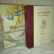 Libros antiguos: DON QUIJOTE DE LA MANCHA-MIGUEL DE CERVANTES-ILUSTRACIONES SALVADOR DALÍ.RIQUER. Lote 178631656