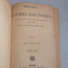 Libros antiguos: 1846 BIBLIOTECA DE AUTORES ESPAÑOLES OBRAS DE MIGUEL DE CERVANTES SAAVEDRA. Lote 178734347