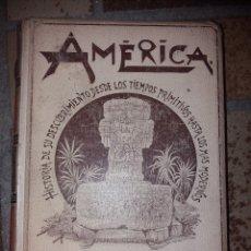 Libros antiguos: HISTORIA DE AMERICA POR RODOLFO CRONAU. PUBLICADO EN 1892.. Lote 178747730