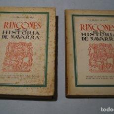 Libros antiguos: RINCONES DE LA HISTORIA DE NAVARRA. FLORENCIO IDOATE.. Lote 178794647