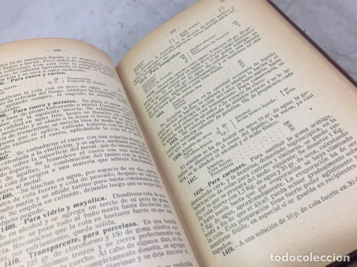 Libros antiguos: RECETARIO DOMESTICO 6690 RECETAS PRACTICAS GHERSI/CASTOLDI GUSTAVO GILI 1923 - Foto 7 - 238647535