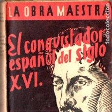 Libros antiguos: RUFINO BLANCO FOMBONA . EL CONQUISTADOR ESPAÑOL DEL SIGLO XVI (NUESTRA RAZA, C. 1930). Lote 178841285