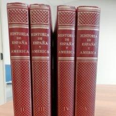 Libros antiguos: HISTORIA DE ESPAÑA Y AMÉRICA. EDITORIAL VICENS VIVES. SEGUNDA EDICIÓN(1971). TOMOS 2, 3, 4 Y 5.. Lote 178847163