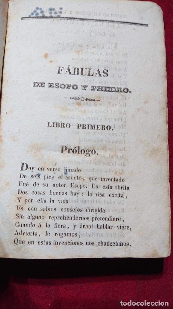 Libros antiguos: COLECCION DE FABULAS ESOPO, PHEDRO, IRIARTE Y SAMANIEGO PARA USO EN ESCUELAS PRIMARIAS AÑO 1844 - Foto 2 - 178857375
