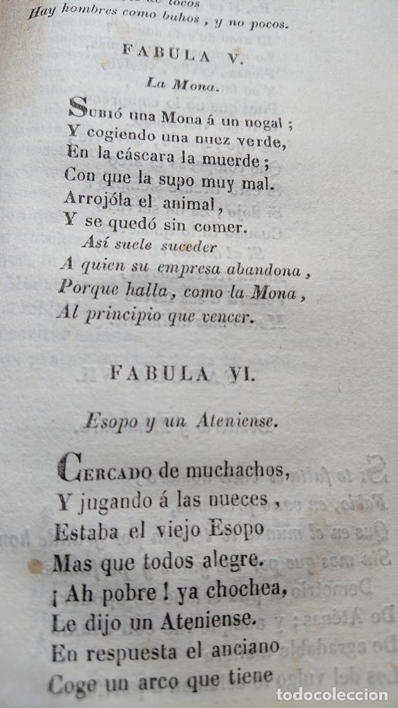 Libros antiguos: COLECCION DE FABULAS ESOPO, PHEDRO, IRIARTE Y SAMANIEGO PARA USO EN ESCUELAS PRIMARIAS AÑO 1844 - Foto 4 - 178857375
