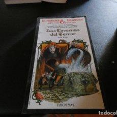 Libros antiguos: LIBROJUEGO DUNGEONS AND DRAGONS AVENTURA SIN FIN LAS CAVERNAS DEL TERROR 1. Lote 178871666