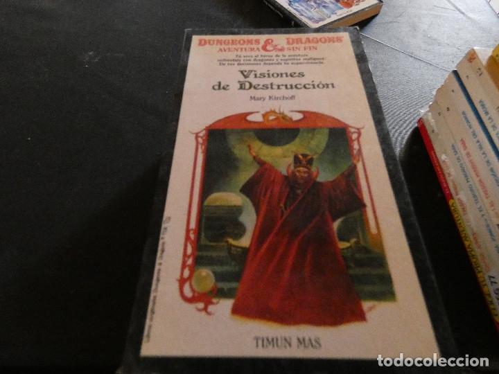 LIBROJUEGO DUNGEONS AND DRAGONS AVENTURA SIN FIN VISIONES DESTRUCCION NUM 21 (Libros Antiguos, Raros y Curiosos - Literatura Infantil y Juvenil - Otros)