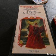 Libros antiguos: LIBROJUEGO DUNGEONS AND DRAGONS AVENTURA SIN FIN VISIONES DESTRUCCION NUM 21 . Lote 178871858