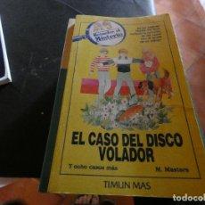 Libros antiguos: LIBRO JUEGO RESUELVE EL MISTERIO TIMUN MAS EL CASO DEL DISCO VOLADOR NUMERO 11. Lote 178872677