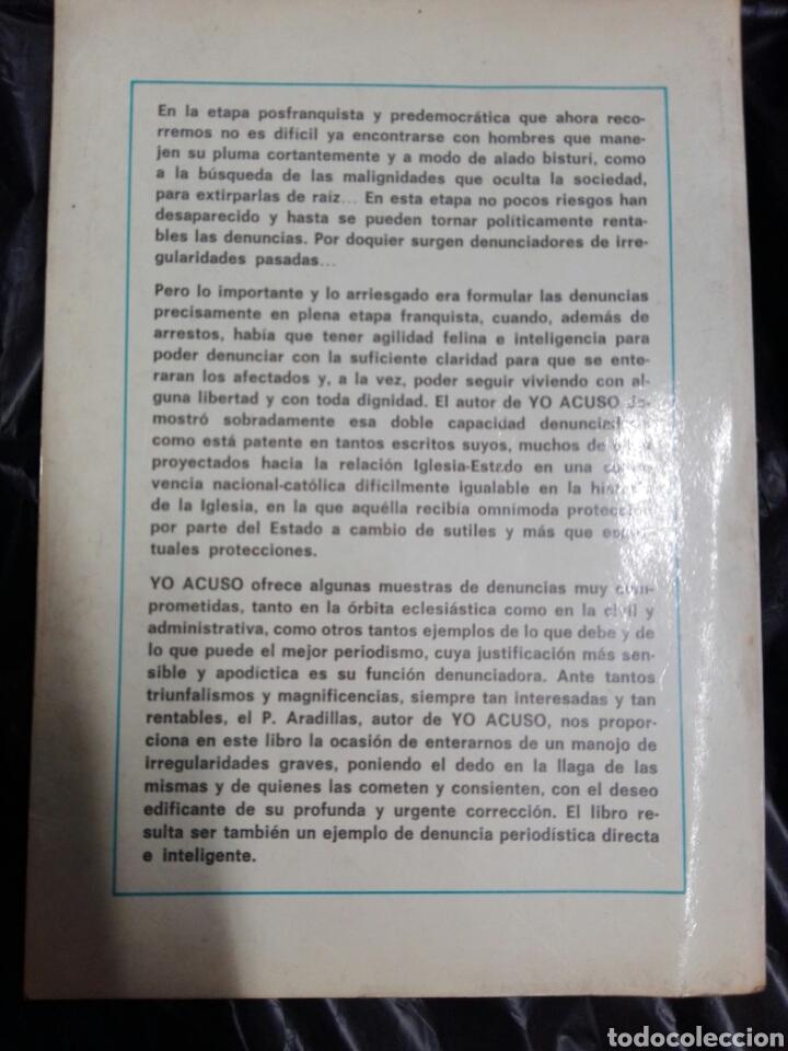 Libros antiguos: YO ACUSO - Foto 4 - 178913346