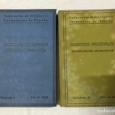 Libros antiguos: FEDERACIÓN DE SINDICATOS CARBONEROS DE ESPAÑA VOLUMEN 4 Y 6 - 1929 1933. Lote 178926083