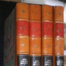 Libros antiguos: JOSÉ TORIBIO MEDINA: LA IMPRENTA EN LIMA (1584-1824). 4 VOLS. 1904-1907. Lote 178956410