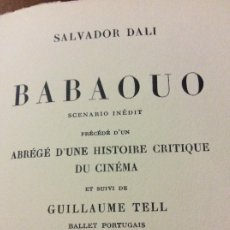 Libros antiguos: 1932 BABAOUO SALVADOR DALI. Lote 178985178