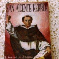 Libros antiguos: SAN VICENTE FERRER. MINI LIBRO....SANNA. Lote 178997620