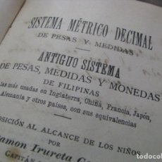 Libros antiguos: SISTEMA MÉTRICO DECIMAL DE PESAS, MEDIDAS Y MONEDAS DE FILIPINAS. 2ª EDICIÓN MADRID 1896. Lote 179034170