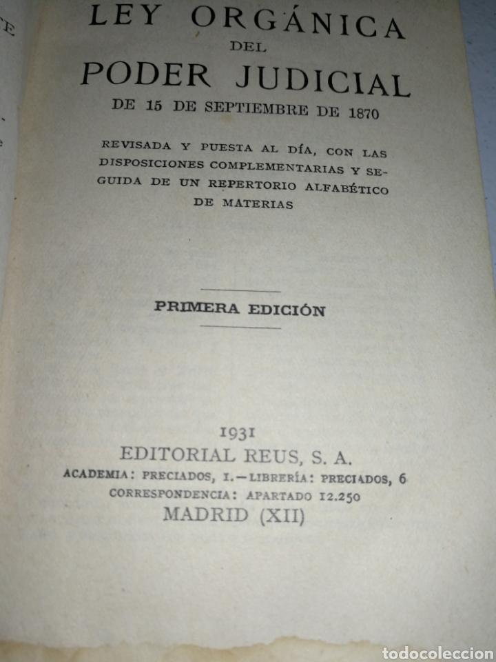 Libros antiguos: LEY ORGÁNICA PODER JUDICIAL 1885 - Foto 3 - 179053287