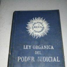 Libros antiguos: LEY ORGÁNICA PODER JUDICIAL 1885. Lote 179053287