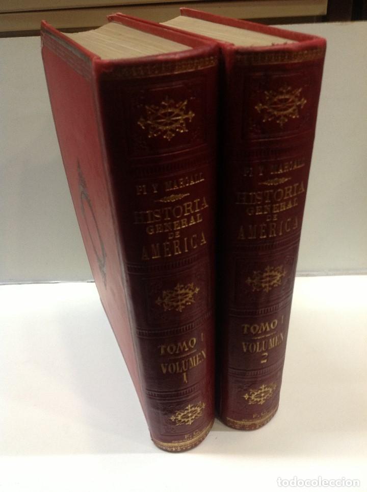 Libros antiguos: PI Y MARGAL ... HISTORIA GENERAL DE AMERICA ... 1888 - Foto 5 - 179105572