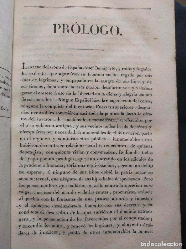 Libros antiguos: Examen de los delitos de infidelidad a la patria. Felix María Reinoso. Burdeos. 1818. 2ª Edición - Foto 7 - 179126357