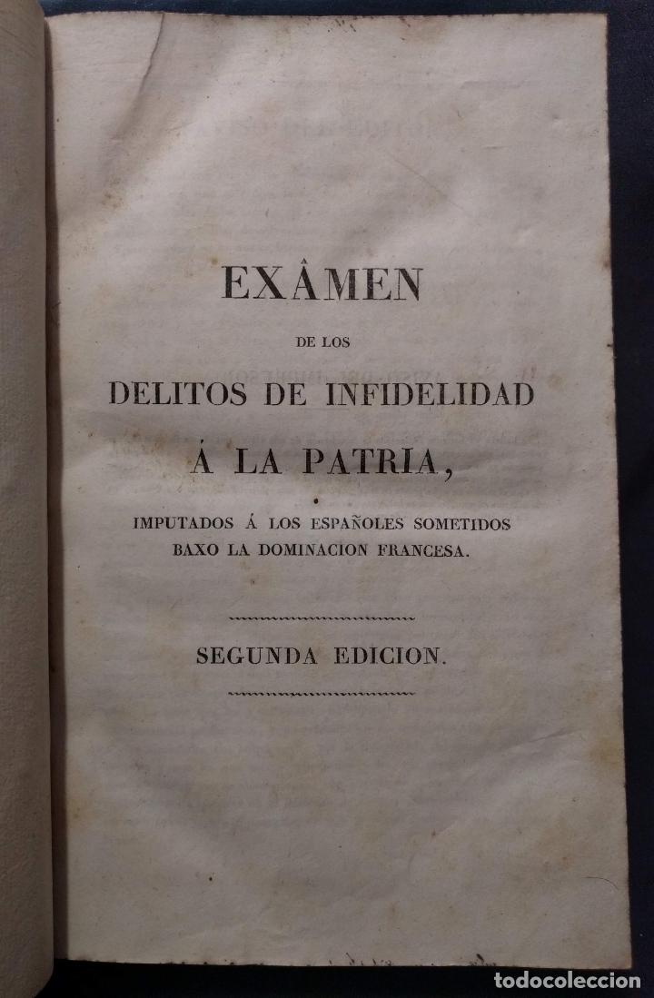 EXAMEN DE LOS DELITOS DE INFIDELIDAD A LA PATRIA. FELIX MARÍA REINOSO. BURDEOS. 1818. 2ª EDICIÓN (Libros Antiguos, Raros y Curiosos - Historia - Otros)