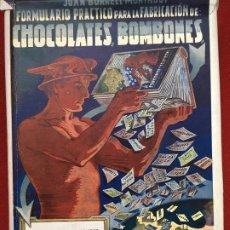 Libros antiguos: MANUAL PARA FABRICACION DE CHOCOLATES Y BOMBONES BARCELONA 1950. Lote 179140610