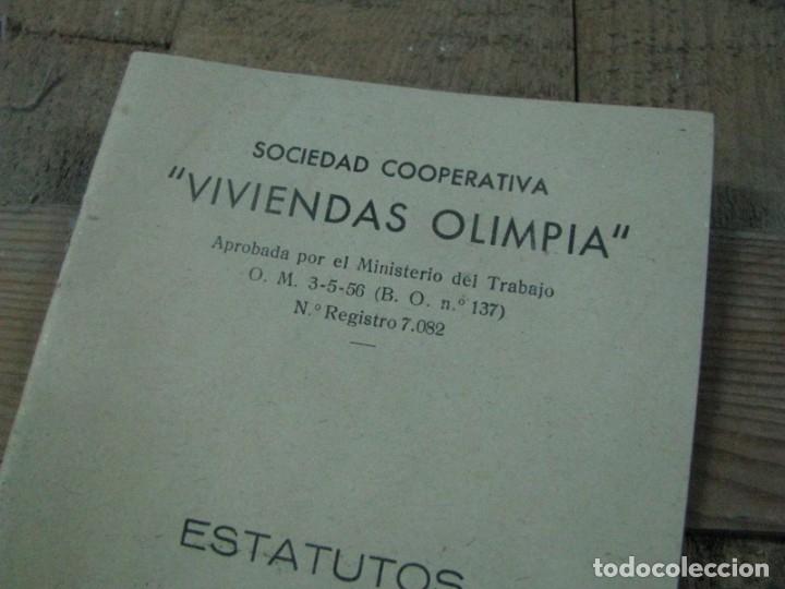 Libros antiguos: SOCIEDAD COOPERATIVA VIVIENDAS OLIMPIA ESTATUTOS. BARCELONA - Foto 3 - 179141531