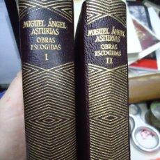 Libri antichi: MIGUEL ANGEL ASTURIAS 2 TOMOS AGUILAR COLECCION JOYA OBRAS ESCOGIDAS MUY BIEN CONSERVADOS. Lote 179170310